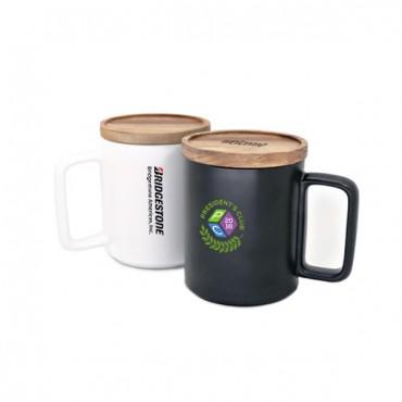 Wooden Cap Ceramic Mug - 450ml